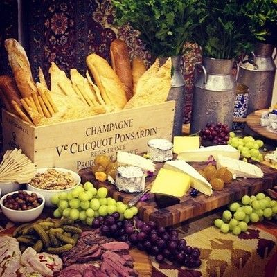 Last but not least, this wouldn't be a French event without an abundant variety of cheeses and meats Wine, cheese and everything French!