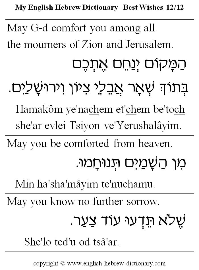 english to hebrew bible dictionary