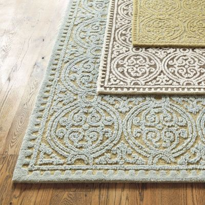 Neutral rug with design: Granada Rug, Dining Room, Area Rugs, Contemporary Rugs, Living Room, Ballard Designs, Family Room, House, Master Bedroom