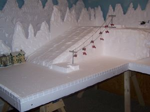 how to make a styrofoam base for village - Google Search