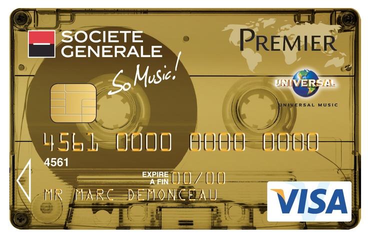 Préférence Carte Visa Premier So Music #K7 #cassette Transparente Société  DS02