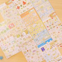 8 unids/lote Sumikko gurashi etiqueta engomada de papel Lindo oso pingüino gato Decorativo adhesivo para carta diario bloc de notas Papelería 6142(China (Mainland))