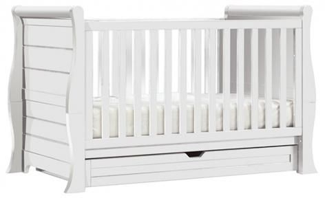 White Imperio Cot Bed by Bebe Care