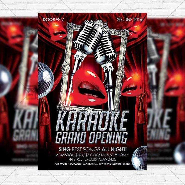 Best Karaoke Templates Images On   Flyer Template