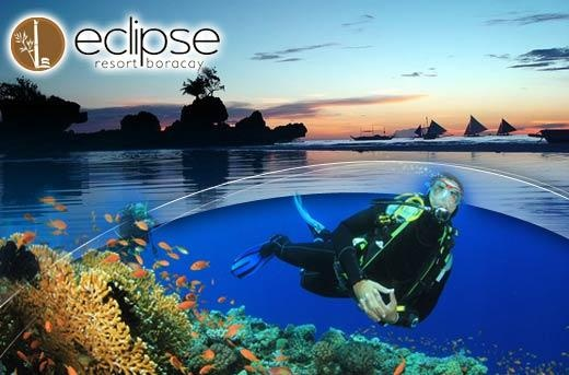 Scuba Diving Lesson, Underwater Shots & Shirt from Eclipse Dive Center Boracay for P3250 instead of P6500! Save 50% on this amazing promo only here at www.MetroDeal.com!