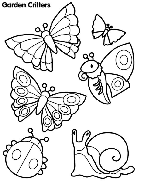 Attractive Garden Critter Coloring Page From Crayola