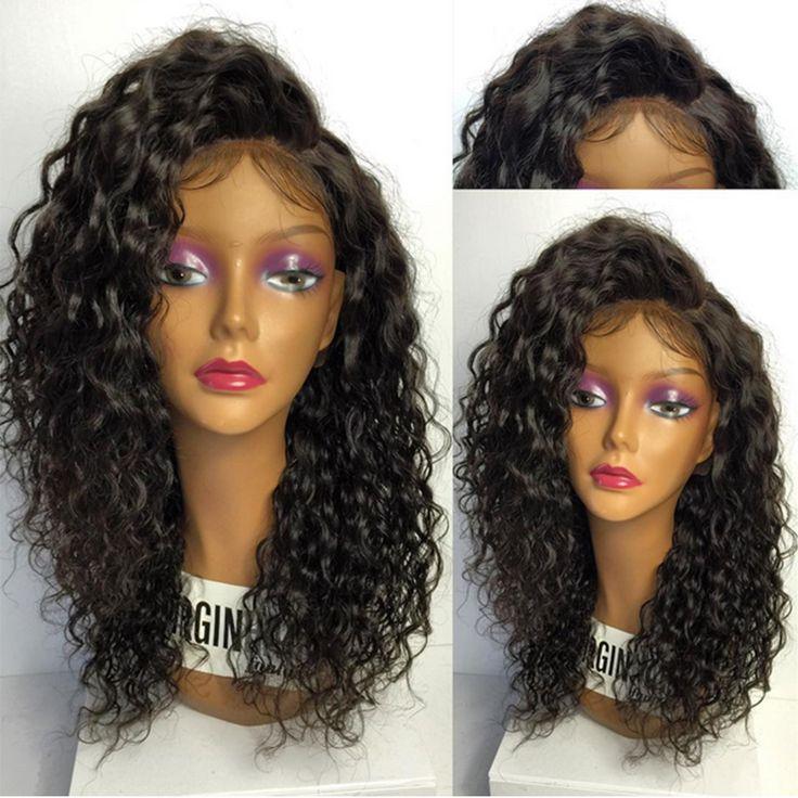 180 dichte Volle Spitze Echthaar Perücken Für Schwarze Frauen Brasilianische lose Lockige Volle Spitzeperücken 8A Spitzefront Menschliches Haar Perücken