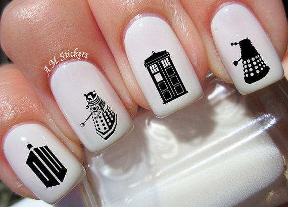 46 Doctor Who Nail stickers by AMnails   Etsy