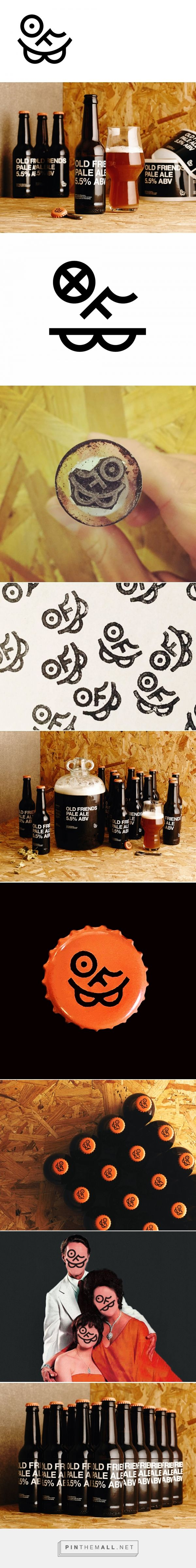 Old Friends Brewery (OFB), microbrewery in Cambridge (UK) / by The District / #branding #packaging