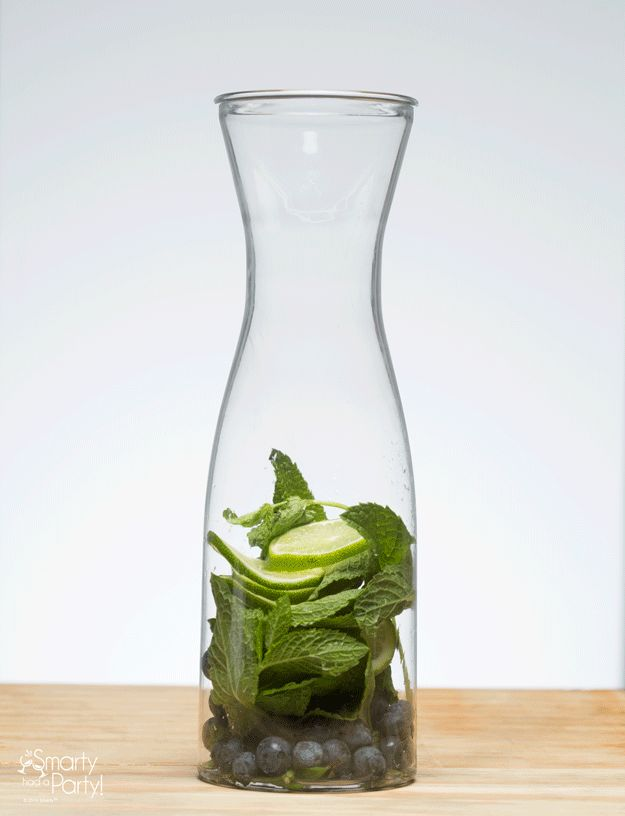 How to make infused water: Add sliced fruit and herbs to a carafe, fill with water, and let infuse! | Smarty Had A Party