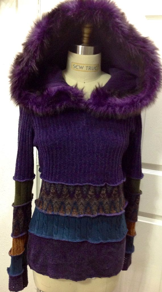 Recycled SweaterSwoodie Hoodie Fairy Jacket by SewWonderifical, $145.00