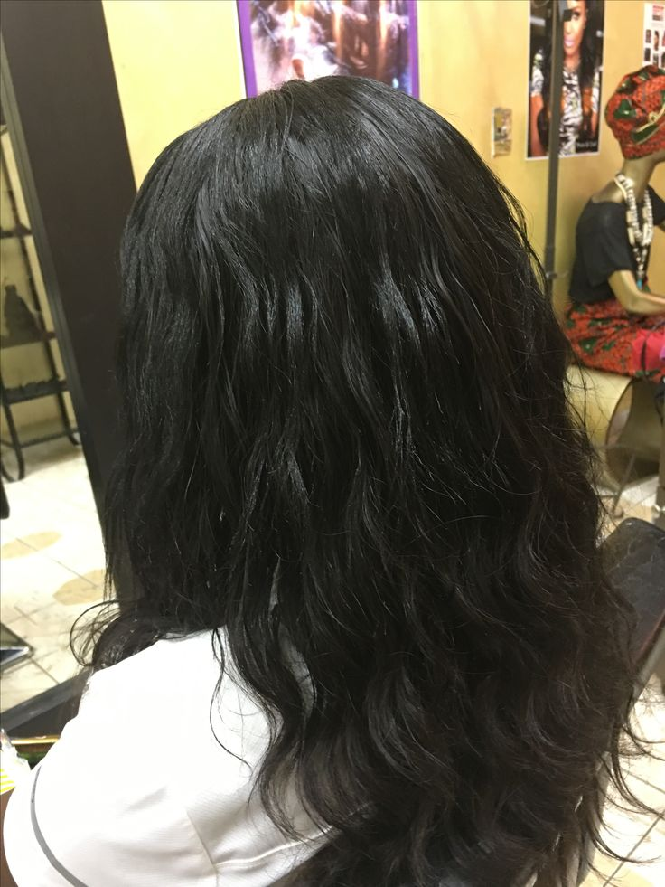Full head weave center hair led red out. By Isis