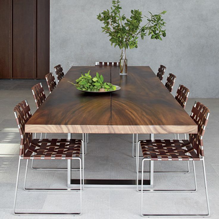 Dining Table designed by Mark Albrecht for Mark Albrecht Studio. Love his woven chairs, too!