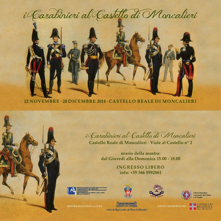 I Carabinieri al Castello di Moncalieri @ Circolo Ufficiali del Real Castello di Moncalieri - 22-Novembre https://www.evensi.com/i-carabinieri-al-castello-di-moncalieri-circolo-ufficiali/136792746
