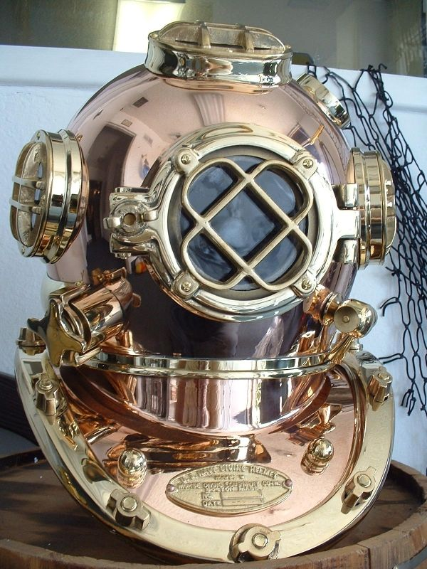 Vintage deep sea diver helmet like out of Jules Verne