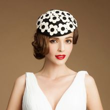 Эксклюзивный распустившегося цветка чистая шерсть фетровая шляпа шерстяные chapeu женщина шляпы шляпу ну вечеринку вечерние свадебные женщин шляпы(China (Mainland))
