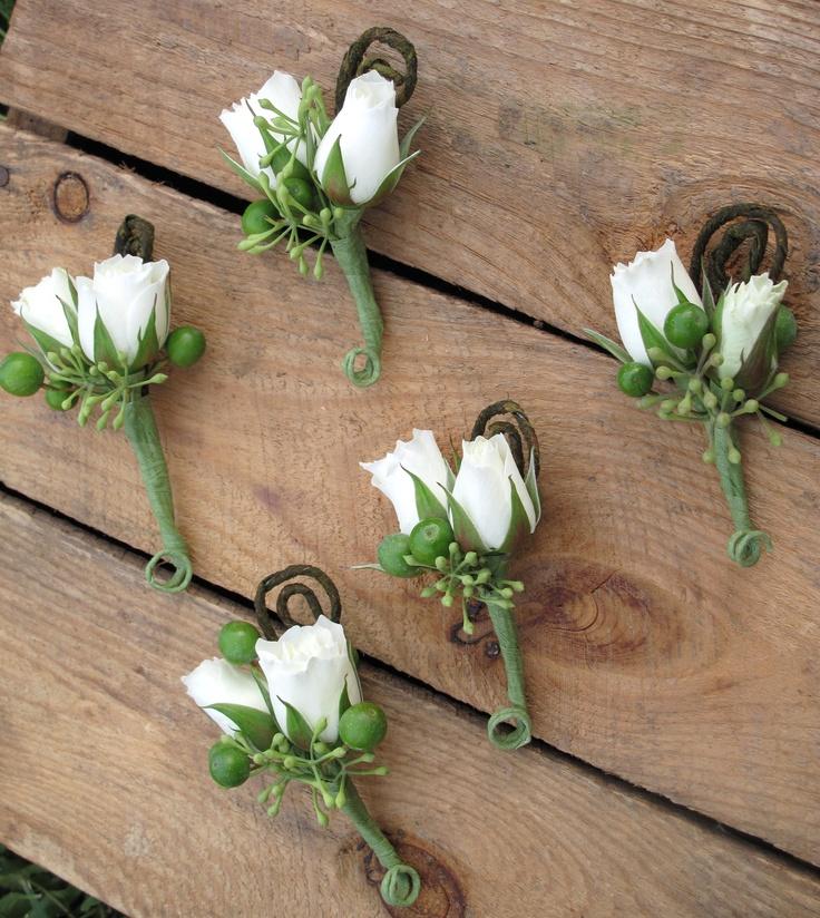 white spray rose boutonniere | weddings | PinterestWhite Spray Rose Boutonniere