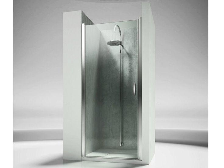Box doccia a nicchia su misura in vetro temperato LINEA LN by VISMARAVETRO design Centro Progetti Vismara