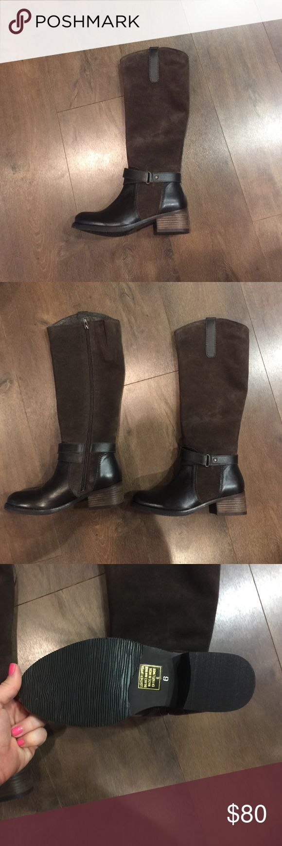 Cute Seychelles brown boots! NWOT! Size 6. Super cute brown Seychelles boots. Brown suede on the top of the boot. Nice rubber soles. Comfy and stylish! Size 6. NWOT Seychelles Shoes Heeled Boots