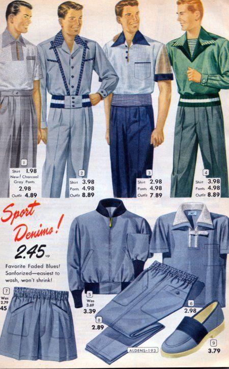 Vintage Aldens Mens Clothing 1950s