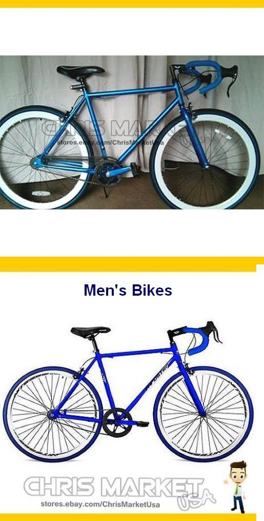 bicycles: 26 Mens Road Bike 700C Thruster Fixie Urban Bicycle 1-Speed Cycling Blue BUY IT NOW ONLY: $141.52