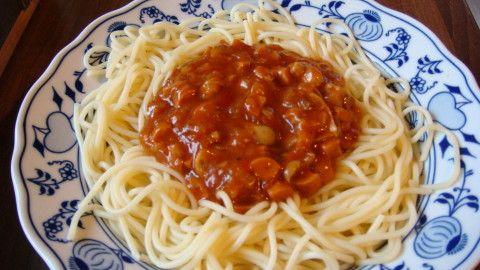 Rajčatová omáčka se žampióny na špagety - Powered by @ultimaterecipe