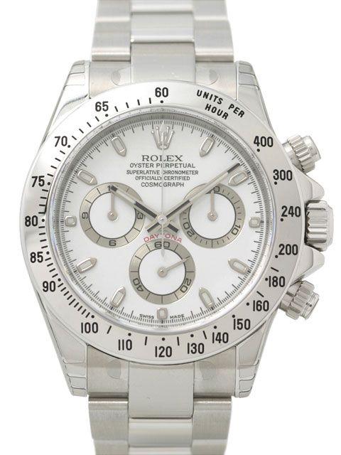 Rolex Daytona Stahl 116520 Weiß