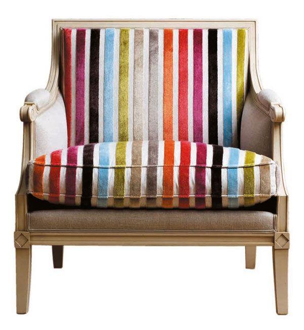 Gorgeous rainbow chair from Roche Bobois.
