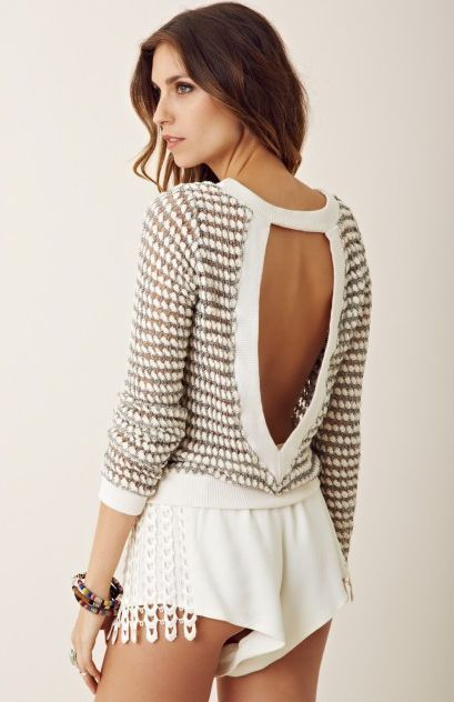 Nightcap Clothing Keyhole Sweater Mara Hoffman JPB Free People