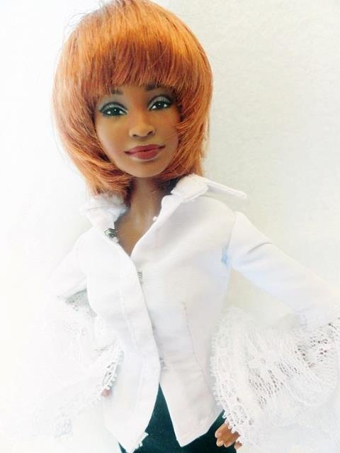 "Whitney repainted by Laurie Everton Buy or order yours at ""The Barbie Canvas"" online"