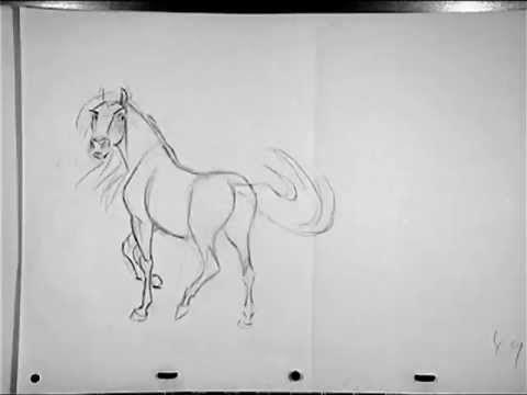 Spirit: Stallion of the Cimarron (2002) Pencil Test 1