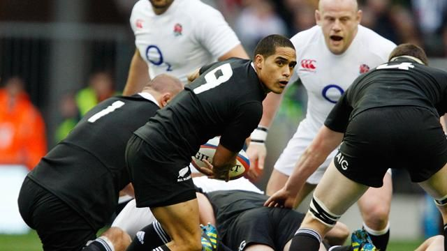 Les All Blacks remportent la bataille d'Angleterre-Rugby-Test Match