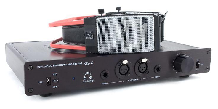 HeadAmp GS-X with AKG K1000 headphones.