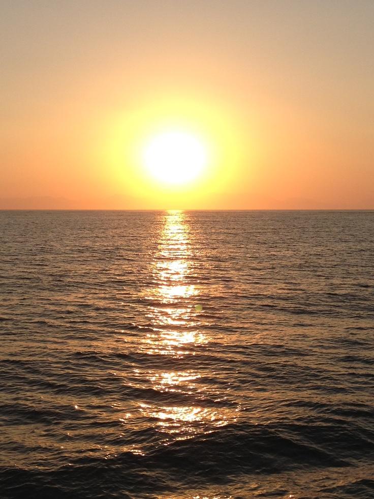 Sunset in Mani, Greece