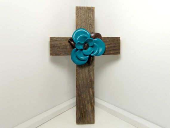 Cowboy Home Decor Barnwood Cross Western Home Decor by TheLotusShop