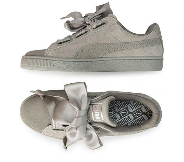 timeless design ae315 8b9e3 Puma Womens Suede Heart Pebble Online | Platypus Shoes ...