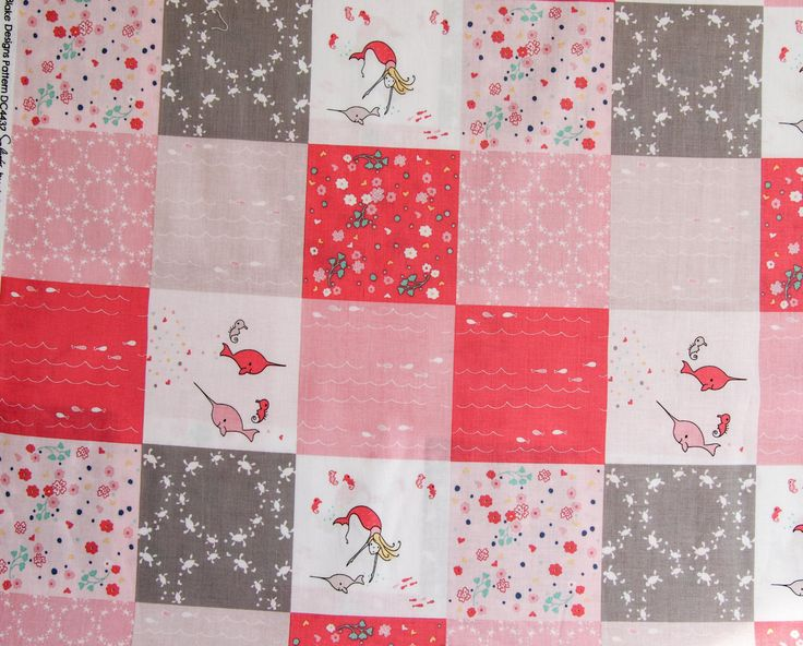 Saltwater Patchwork Pink by SewNanasPlace on Etsy