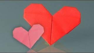origame de coração - YouTube