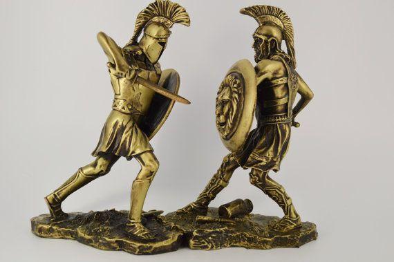 Achilles vs Hector 2pcs/ Polyester/ Bronze by CraftsAndMetal