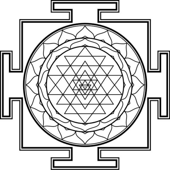 Yantras  11  Pages for all ages adult Meditative  Coloring supports my seva in rural india