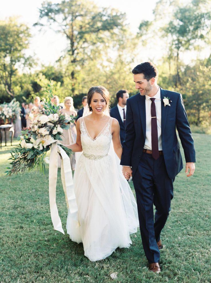 Classic Burgundy + Navy Fall Wedding