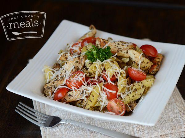 Better Than The Freezer Aisle: Copycat Lean Cuisine Chicken Margherita - Once A Month Meals - Freezer Cooking - Freezer Meals - OAMM - OAMC