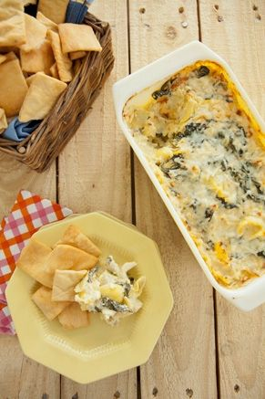 Party Appetizer: Creamy Artichoke and Spinach Dip