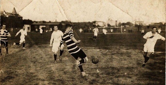 Fußball 1913 - Germania 88 im Angriff