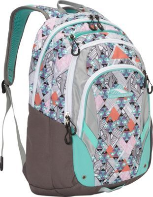 High Sierra Kenley Backpack Native Heart/Charcoal/Silver/Aquamarine - via eBags.com!