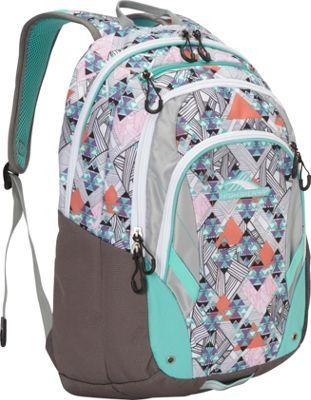 High Sierra Kenley Backpack Native Heart/Charcoal/Silver/Aquamarine - via eBags.com!
