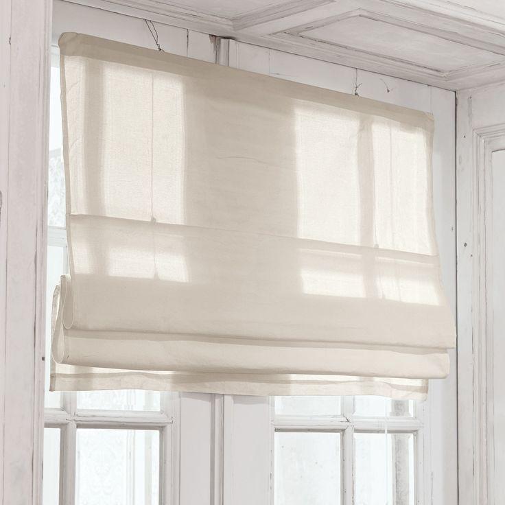 Vintage Faltrollo Fides Ein echtes Basic f r die Fensterdekoration nicht nur in K che oder Bad Aus reiner Baumwolle gefertigt und in der H he ganz nach Wunsch