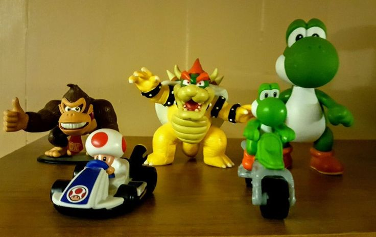 super mario figure lot king koopa yoshi donkey Kong and more | eBay