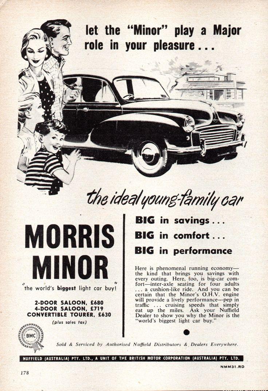 https://flic.kr/p/K93kVu   1956 Morris Minor BMC Aussie Original Magazine Advertisement