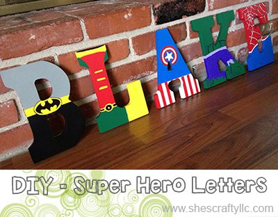 It's a Bird, I's a Plane, It's Super Hero Letters! Check out these cool letters, perfect for a child's room.